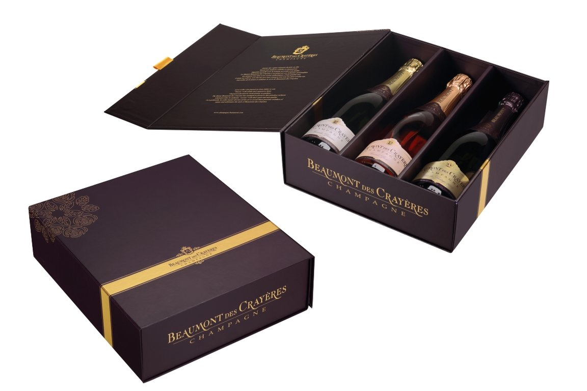 Giftbox for 3 bottles of Champagne