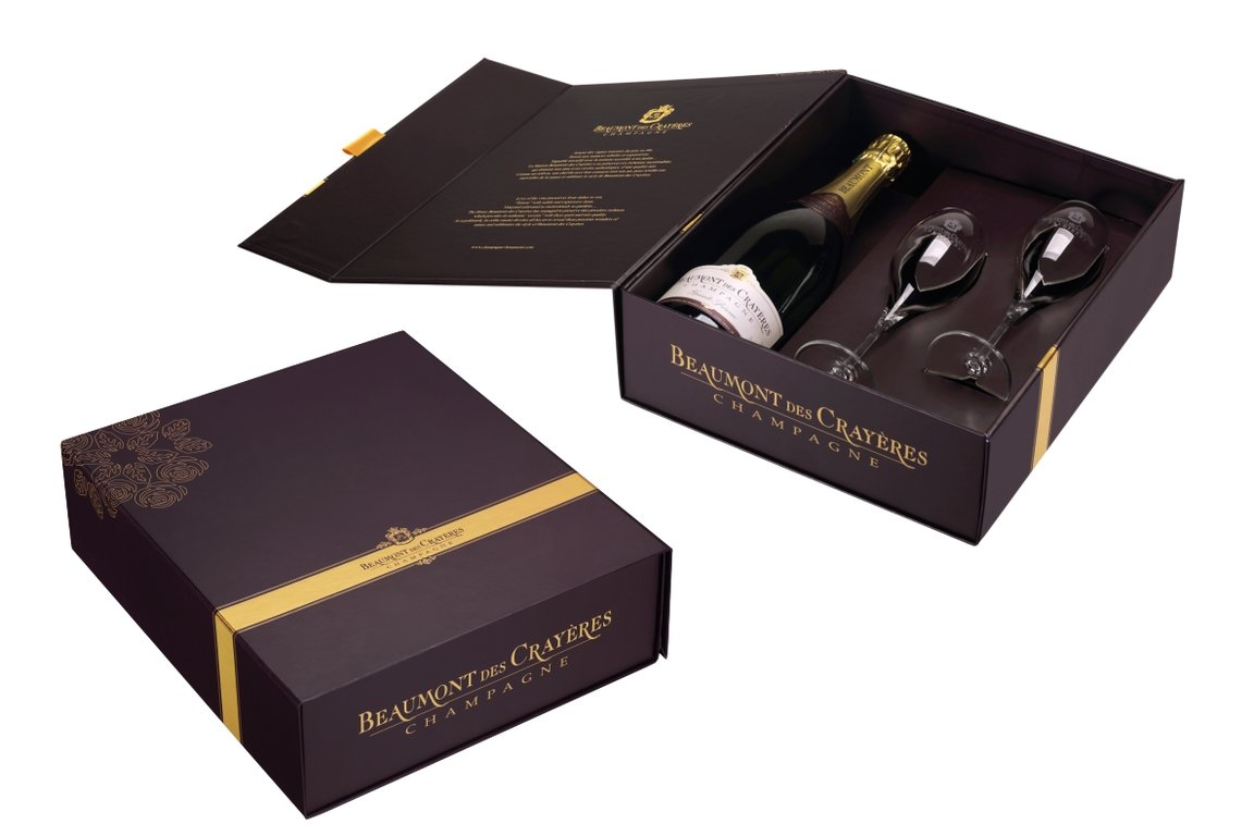 Giftbox Champagne and glasses